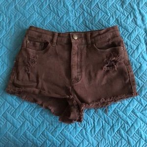 Urban Outfitters BDG distressed black short shorts